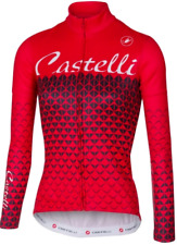 Castelli Ciao Long Sleeve Women's Cycling Jersey Red Size XL