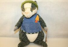 "Hallmark Crayola Storybook Friends Brad Badger w/tags & eyeglasses 14"" plush"