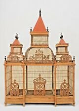 French Victorian Style (19/20th Cent) Walnut Large Birdcage
