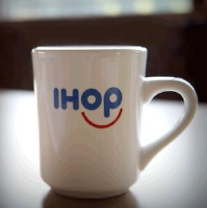NEW IHOP Smiley Coffee Mug Tuxton diner cup white GREAT GIFT