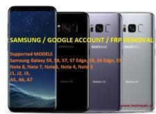 Samsung S9 S8 S7 Note 8 S6 A5 A8 Google Account, FRP Removal Service all SAMSUNG