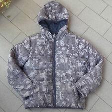 Piumino bomber dubleface sarabanda grigio militare camouflage camu giacca bambin