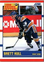 1990 Score RECORD SETTER Trading Card of BRET HULL #346