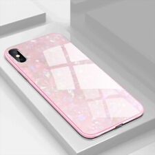 For Samsung Galaxy S10 E S9 S8 Plus Luxury Marble Tempered Glass Back Cover Case