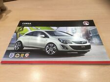 VAUXHALL  CORSA 2012 MODELS EDITION 2, Sales Brochure, VM1109933, 52 Pages