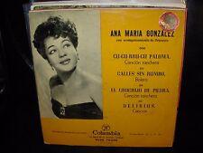 """ANA MARIA GONZALEZ cu cu rru paloma ( world music ) 7""""/45 picture sleeve ep"""