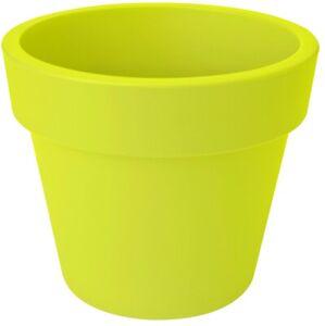 Medium 30cm Round Planter Plastic Plant Pot Lime Green 10 Litre Double Walled