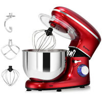 Electric Food Stand Mixer 6 Speed 6.3Qt 660W Tilt-Head Stainless Steel Bowl New