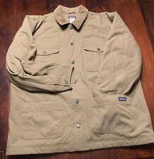 Men's Patagonia Tan Canvas Work Jacket Coat, Size XXL