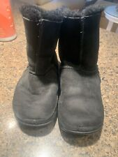 Womens Fitflop Black Suede Boots Size 4