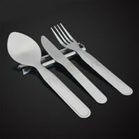 4Pcs Stainless Steel Fork Spoon Cutter Opener Set Kit Cutlery For