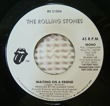 ROLLING STONES Waiting On A Friend Promo Only MONO Broadcast 45 Masterdisk NM