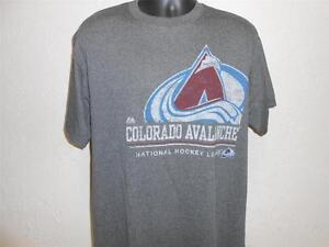 NEW Colorado Avalanche MENS Large (L) Majestic Brand Gray Shirt 21SJ