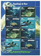 GREENPEACE SEA TURTLE MARINE LIFE REPUBLIQUE DU NIGER 1998 MNH STAMP SHEETLET