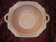"Mayfair Open Rose Pink Frosted Satin Vegetable Bowl 1931-37  10"" round handled"