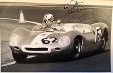 BILL BARTON MOTOR CAR RACING DRIVER  AUTOGRAPHED LOTUS PHOTO