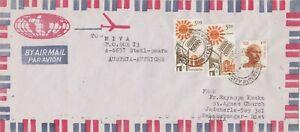 IN190) NICE INDIA COVER TO AUSTRIA - SOLAR ENERGY; GANDHIJI