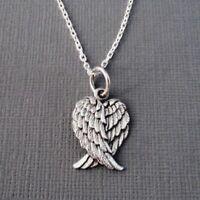 Boho 925 Sterling Silver Eagle Hawk Falcon Angel Wing Necklace (Pendant + Chain)