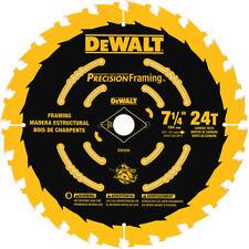 DEWALT Circular Saw Carbide Blade 7 1/4 Inch 24T Precision Framing CHN DW3599