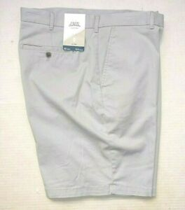 """IZOD Saltwater Men Size 42"""" Relaxed Classic Fit Stretch Chino Shorts Gray, New"""