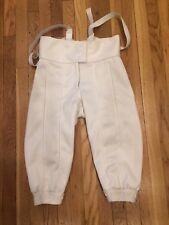 Blue Gauntlet Fencing Gear Pants Boy's Size 26 Rh 350Nw 3 weapon Level 1 Jp02