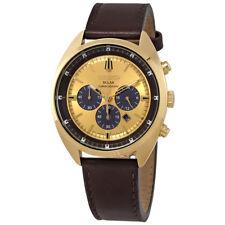 Seiko Recraft Gold Tone Dial Mens Chronograph Watch SSC570
