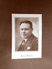 Stampa del 1923 Aldo Mazza Collaboratore dell'Illustrazione Italiana