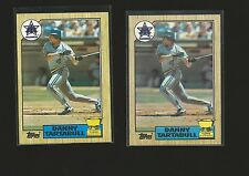 DANNY TARTABULL 1987 Topps RARE ROOKIE CARD Error Mariners RC Double Stamped