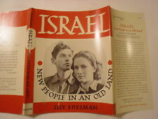 Israel New People in an Old Land, Lily Edelman, Dust Jacket Only