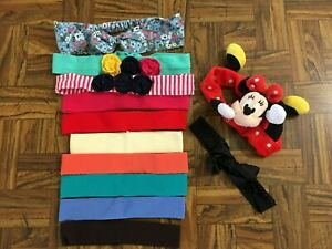 Children Girls Head Band Mixed Lot of 12 Multi-Color Minnie Mouse Solids