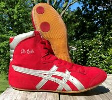 Vintage Dan Gable Classic Wrestling Shoes Size 7.5 Red Silver ASICS