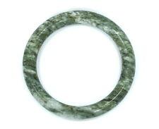 Vintage Old Chinese Natural Green Grey Tube JADE Jadeite Bangle Bracelet