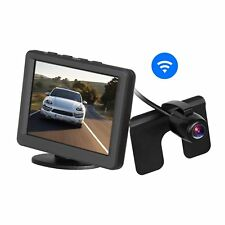 "Car Wireless Rear View Camera Monitor Kit 3.5"" 165° Wide Angle License Plate Cam"