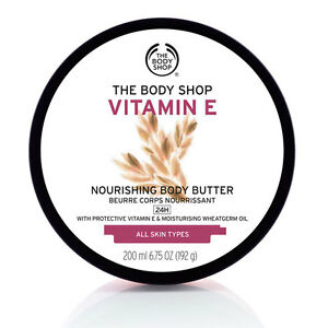 Body Shop ◈ VITAMIN E ◈ Super-rich Nourishing Butter Moisturiser Cream ◈ 200ml