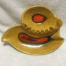 California Style Pottery,Mid Century, ASHTRAY !!! ............  S3