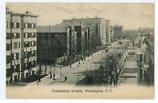 Rare CONNECTICUT AVENUE NW Antique Washington DC PC Bicycle Winter 1900s