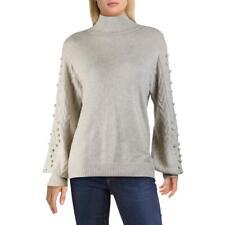 Private Label Womens Tan Cashmere Mock Turtleneck Sweater Top L BHFO 8571