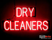 SpellBrite Ultra-Bright DRY CLEANERS Sign Neon look LED performance