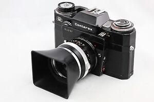 *RARE* Contarex Super Black Camera Body + Zeiss Tessar 50mm f2.8 lens 50/2.8