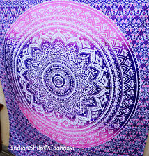 Mandala Tapestry Ombre Wall Hanging Queen Bedspread Throw Indian Large Hippie