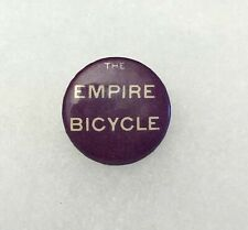 Antique 1890s 1900s Bicycle Stud Celluloid Button Pin EMPIRE CYCLES