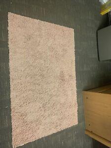 "Mainstays Machine Washable Solid Shag Area Rug, Pink, 3' x 4'8"""