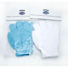 Pair Of Athena Exfoliating Gloves,Skin Body Bath Shower Loofah Scrub Massage Spa
