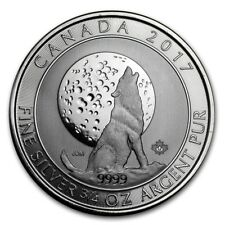 2017 Canadian $2 Wolf Moon 3/4 oz .9999 Silver Coin (Grey Wolf Series)