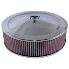 """14"""" x 4"""" (100mm) Air Filter suit Holley 2bbl 4bbl 5 1/8 neck with recessed base"""