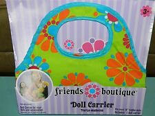"""Friends Boutique 18"""" Doll Carrier Our Generation AG GREEN Floral NEW IN PACKAGE!"""