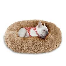Soft Self Warming Washable Dog Cat Bed Donut Cuddler Faux Fur Round Pet Bed