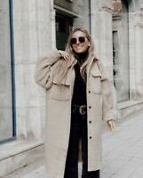 H&M Coat Shacket long Oversized Jacket Faux Shearling Different Colors