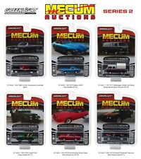 MECUM AUCTIONS COLLECTOR SERIES 2 SET OF 6 CARS 1/64 DIECAST BY GREENLIGHT 37140
