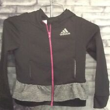 Adidas Climawarm  Athletic Warm Up Jacket for a girl size 5 Black